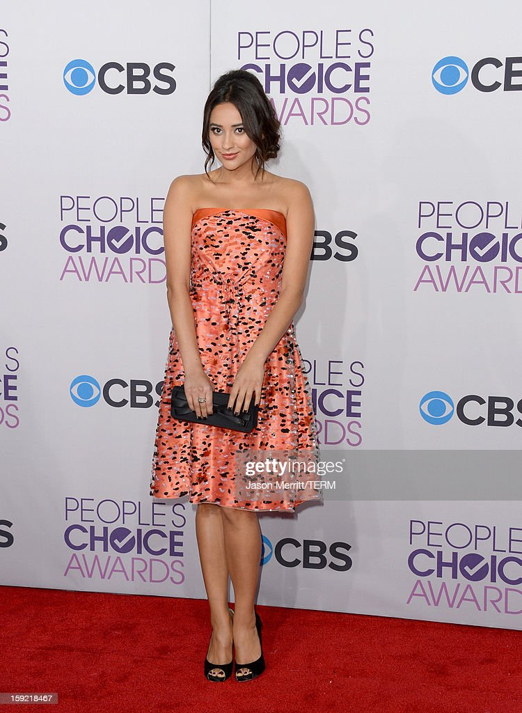 Shay Mitchell attends the 39th Annual People's Choice Awards at Nokia Theatre L.A. Live on January 9, 2013 in Los Angeles, California.