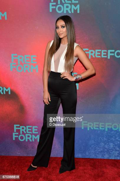 Shay Mitchell attends the Freeform 2017 Upfront at Hudson Mercantile on April 19 2017 in New York City