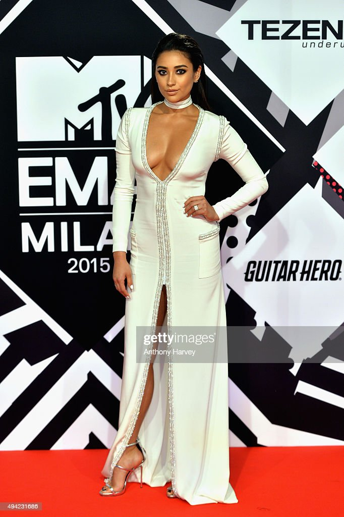Shay Mitchell attends the MTV EMA's 2015 at the Mediolanum Forum on October 25 2015 in Milan Italy