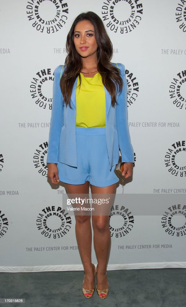 <a gi-track='captionPersonalityLinkClicked' href=/galleries/search?phrase=Shay+Mitchell&family=editorial&specificpeople=6886213 ng-click='$event.stopPropagation()'>Shay Mitchell</a> attends The Paley Center For Media Presents An Evening With 'Pretty Little Liars' at The Paley Center for Media on June 10, 2013 in Beverly Hills, California.