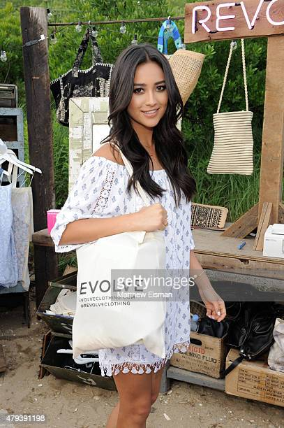 Shay Mitchell attends the REVOLVE PopUp launch party at The Surf Lodge on July 3 2015 in Montauk New York