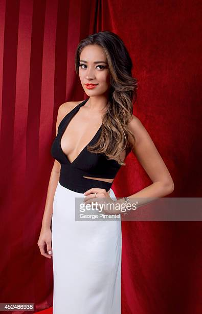 Shay Mitchell is photographed at the Canadian Screen Awards on March 9 2014 in Toronto Ontario