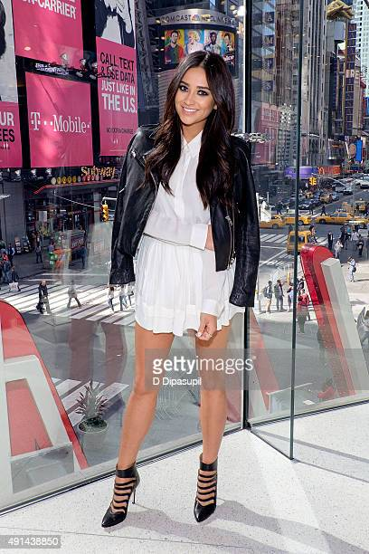 Shay Mitchell visits 'Extra' at their New York studios at HM in Times Square on October 5 2015 in New York City