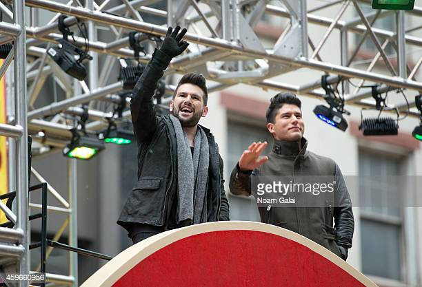 Shay Mooney and Dan Smyers from Dan Shay attend the 88th Annual Macys Thanksgiving Day Parade at on November 27 2014 in New York New York