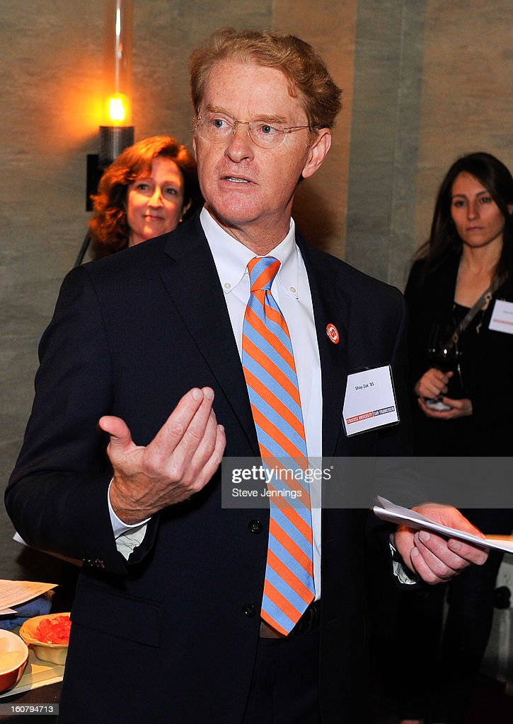 Shay Zak speaks to the crowd at the Syracuse University's San Francisco Donor Reception at Waterbar Restaurant on February 5, 2013 in San Francisco, California.