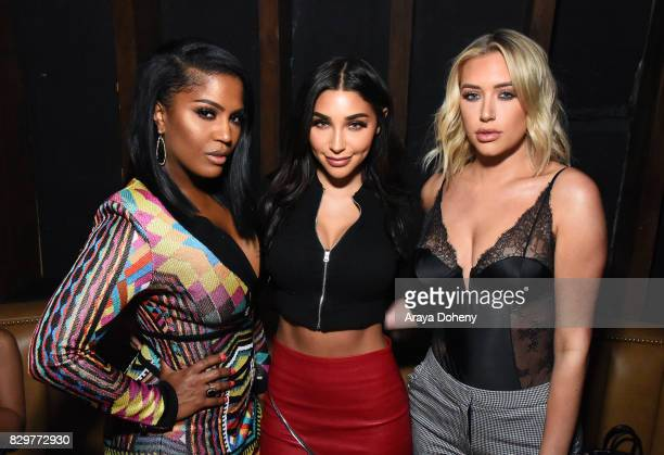 Shayla Mitchell and Jackie Aina and Anastasia Karanikolaou attend Maybelline New York Celebrates First Ever Cobranded Product Collection With Beauty...