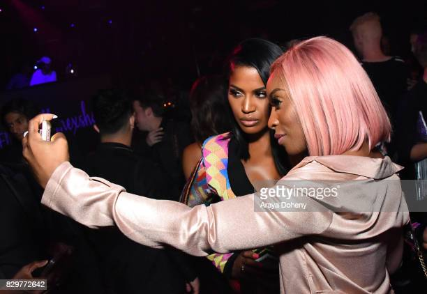 Shayla Mitchell and Jackie Aina attend Maybelline New York Celebrates First Ever Cobranded Product Collection With Beauty Influencer Shayla Mitchell...