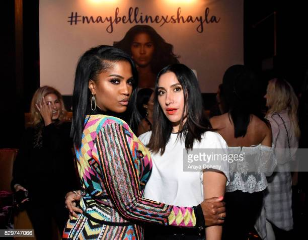 Shayla Mitchell and Jen Atkin attend Maybelline New York Celebrates First Ever Cobranded Product Collection With Beauty Influencer Shayla Mitchell at...