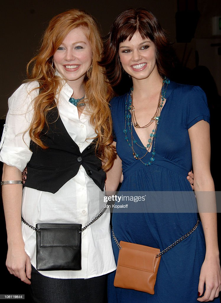 Shayna Rose and Rachel Melvin during Judi Evans Hosts 'A Very Hip Luncheon' November 11 2006 at Colors on Bedford in Beverly Hills California United...