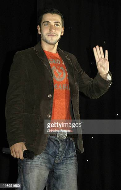 Shayne Ward during Christmas Lights Ceremony at the Trafford Centre in Manchester October 27 2005 at Trafford Centre in Manchester Great Britain