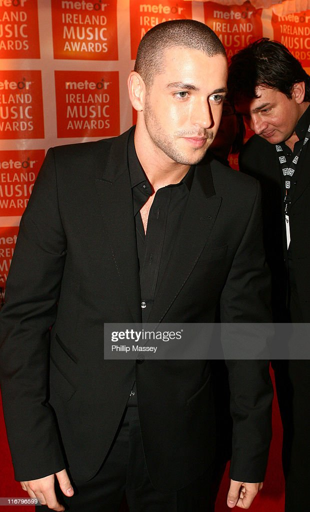 Shayne Ward during Meteor Ireland Music Awards 2007 at The Point in Dublin, Ireland.