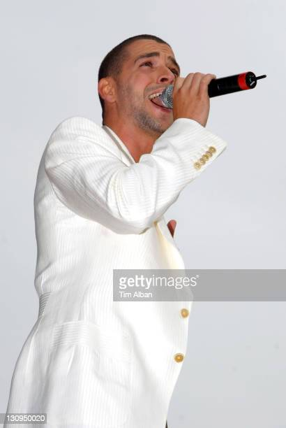 Shayne Ward during T4 on the Beach June 18 2006 in WestonSuperMare Great Britain