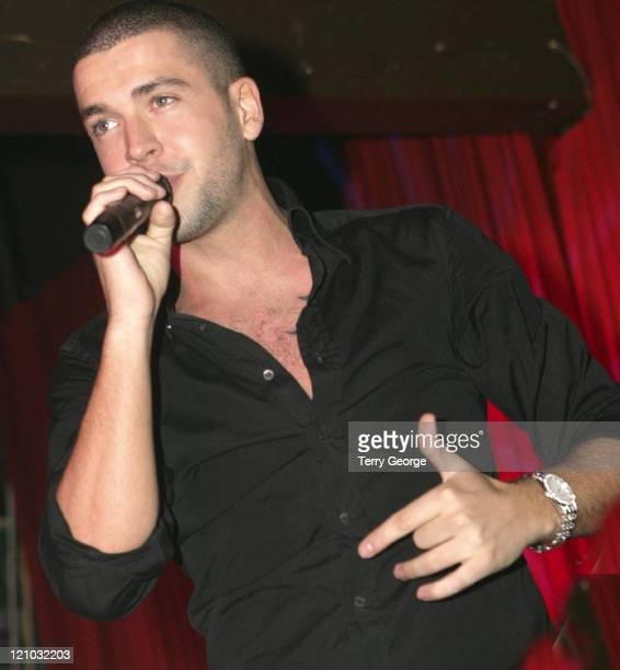 Shayne Ward during XFactor Winner Shayne Ward in Concert at Essential in Manchester March 11 2006 at Essential Nightclub in Manchester Great Britain