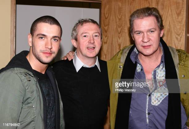 Shayne Ward Louis Walsh and Johnny Logan during 'The Late Late Show' January 18 2007 at RTE Studios in Dublin Ireland