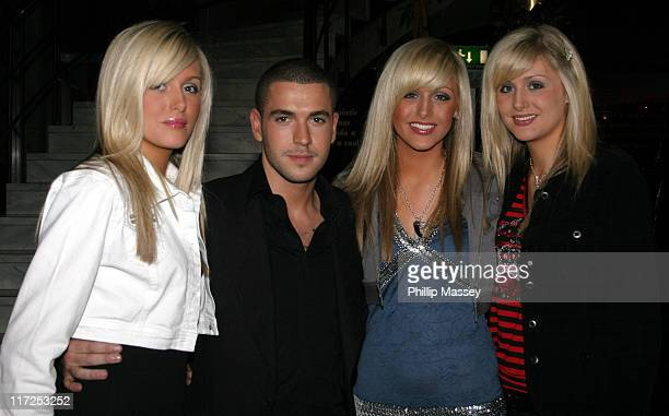 Shayne Ward with the Crimmins Triplets during Shayne Ward Louis Walsh and Former Boyzone Member Mikey Graham at the Late Late Show Dublin Ireland 21...