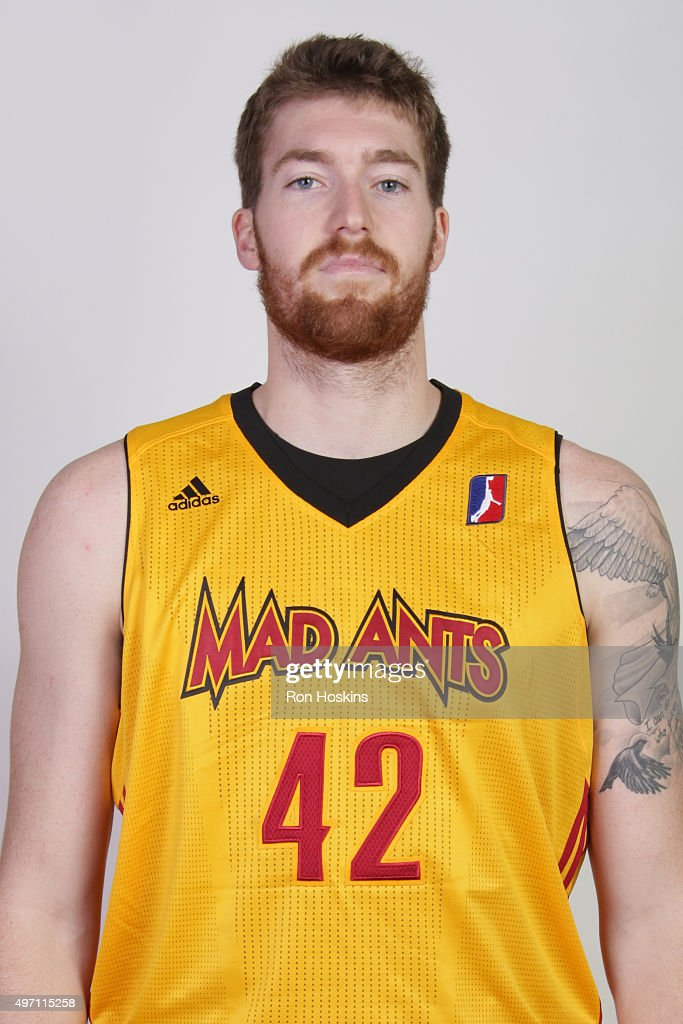 Shayne Whittington #42 of the Fort Wayne Mad Ants poses for a head shot during the NBA Developmental League media day at Memorial Coliseum November 9, 2015 in Fort Wayne, Indiana.