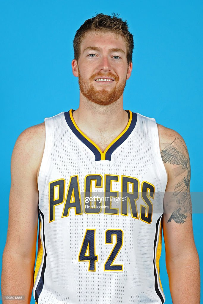 Shayne Whittington #42 of the Indiana Pacers poses for a head shot during the Indiana Pacers media day at Bankers Life Fieldhouse on September 28, 2015 in Indianapolis, Indiana.