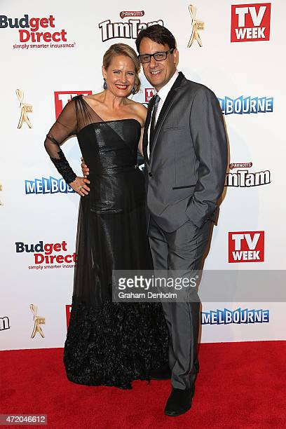 Shaynna Blaze and Andrew Winter arrive at the 57th Annual Logie Awards at Crown Palladium on May 3 2015 in Melbourne Australia