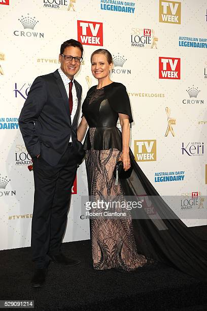 Shaynna Blaze and Andrew Winter arrives at the 58th Annual Logie Awards at Crown Palladium on May 8 2016 in Melbourne Australia