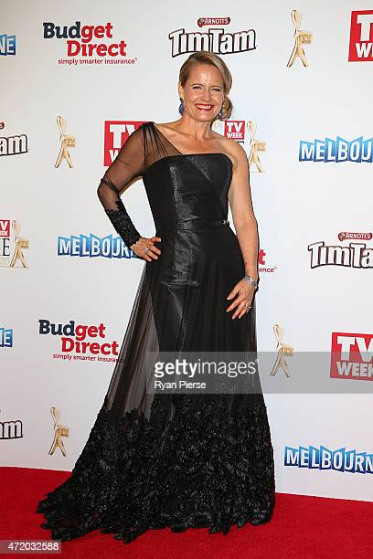 Shaynna Blaze arrives at the 57th Annual Logie Awards at Crown Palladium on May 3 2015 in Melbourne Australia