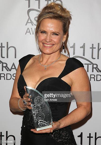 Shaynna Blaze poses with the award for Favourite Female Personality at the 11th Annual ASTRA Awards at Sydney Theatre on July 25 2013 in Sydney...