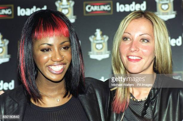 Shaznay Lewis and Natalie Appleton of the girl band All Saints at the 'Loaded Carling Good Work Fella Awards' presentation ceremony where they were...