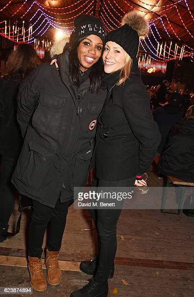 Shaznay Lewis and Nicole Appleton attend a VIP Preview of Hyde Park's Winter Wonderland 2016 on November 17 2016 in London United Kingdom