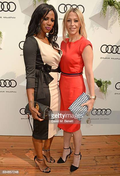 Shaznay Lewis and Nicole Appleton attend day one of the Audi Polo Challenge at Coworth Park on May 28 2016 in London England