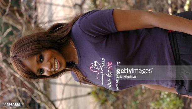 Shaznay Lewis during Cancer Research UK's Race For Life March 17 2005 at Lincoln's Inn Fields in London Great Britain