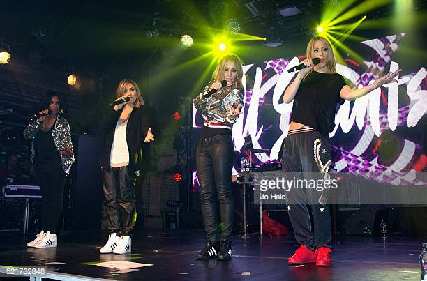 Shaznay Lewis Melanie Blatt Natalie Appleton and Nicole Appleton of All Saints perform on stage at GAY Club at Heaven on April 16 2016 in London...