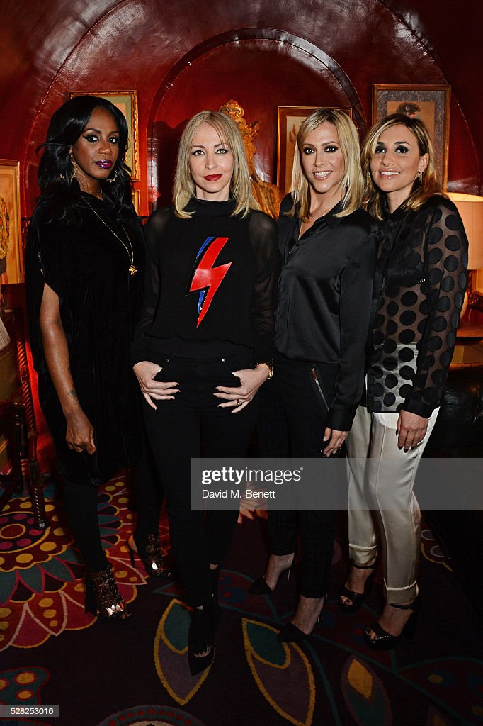 Shaznay Lewis, Nicole Appleton, Melanie Blatt and Natalie Appleton of All Saints attend an intimate performance by All Saints at Annabel's on May 4, 2016 in London, England.