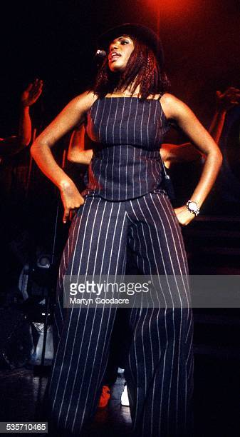 Shaznay Lewis of All performs on stage in Ibiza Spain 2001
