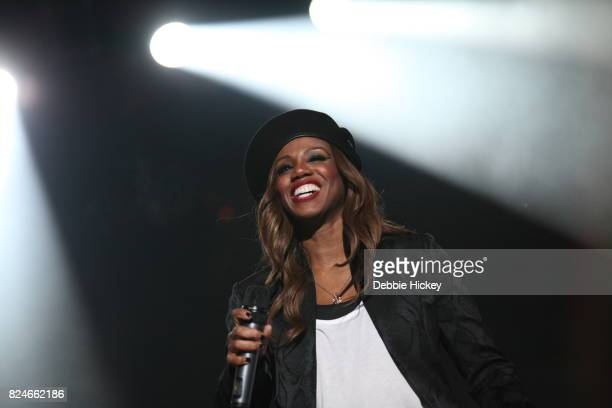 Shaznay Lewis of All Saints performs during Punchestown Music Festival at Punchestown Racecourse on July 30 2017 in Naas Ireland