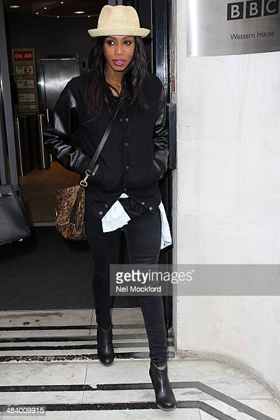 Shaznay Lewis of All Saints seen at BBC Radio 2 on April 11 2014 in London England