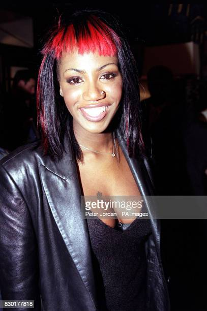 Shaznay Lewis of girl band All Saints arrives for the first night of a recast 'Beauty and the Beast' musical at the Dominion Theatre in Tottenham...