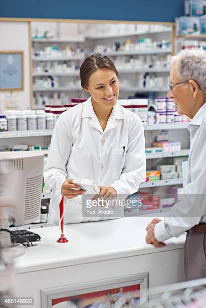 She always makes sure customers know their medication