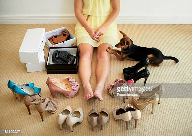 Sie können sich nicht entscheiden, an Ihre Schuhe