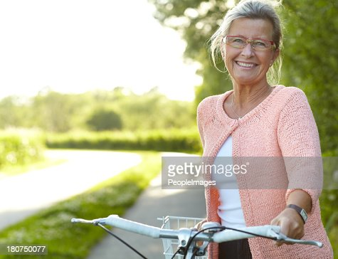 She enjoys healthy outdoor activities - Cycling