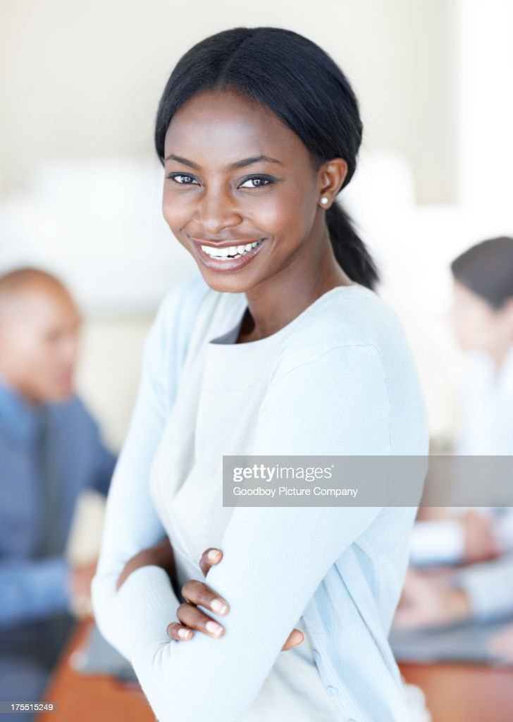 She feels accepted and acknowledged by her colleagues : Stock Photo