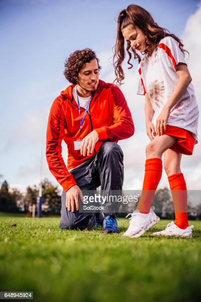 She has a Soccer Injury