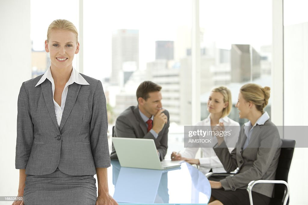Beautiful manager : Stock Photo