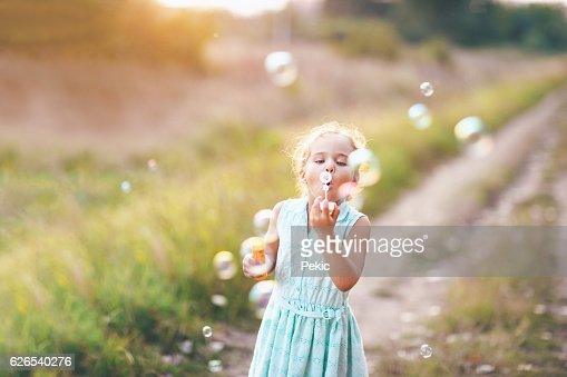 She love soap bubbles
