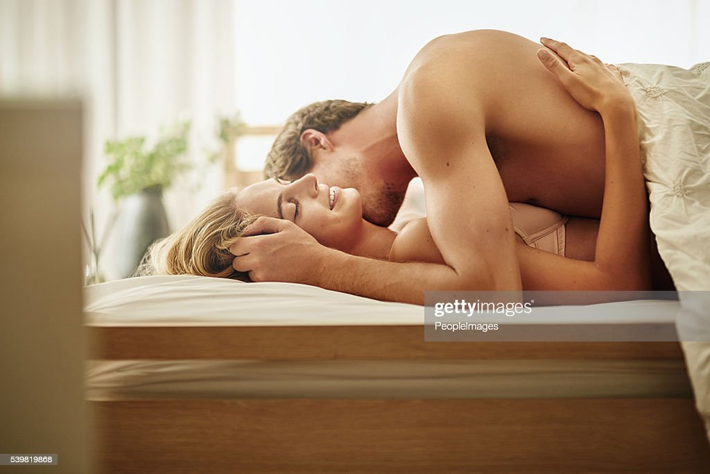 She loves it when he nuzzles her neck : Stock Photo