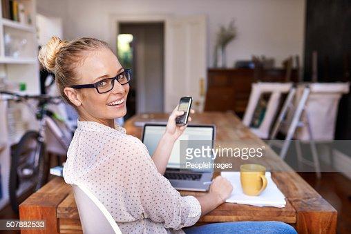 She makes multi-tasking look easy