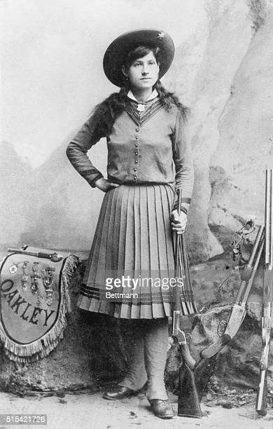 She once shot a cigarette form the mouth of former Kaiser Wilhelm and received a medal from King Edward of England who called her the greatest rifle...