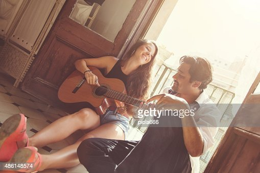 She plays for him