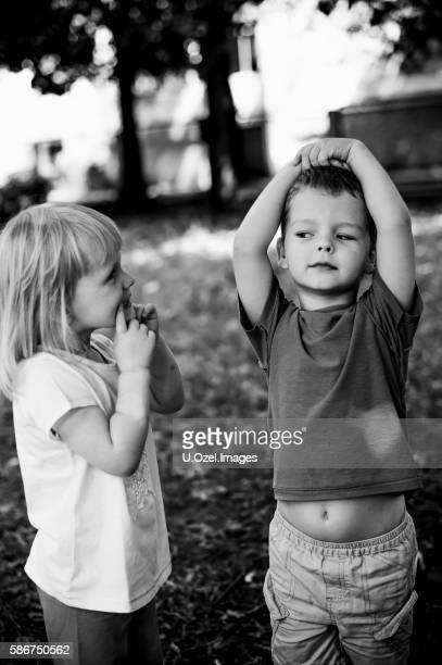 She says '' Please Smile ''  - Cute Children at Park