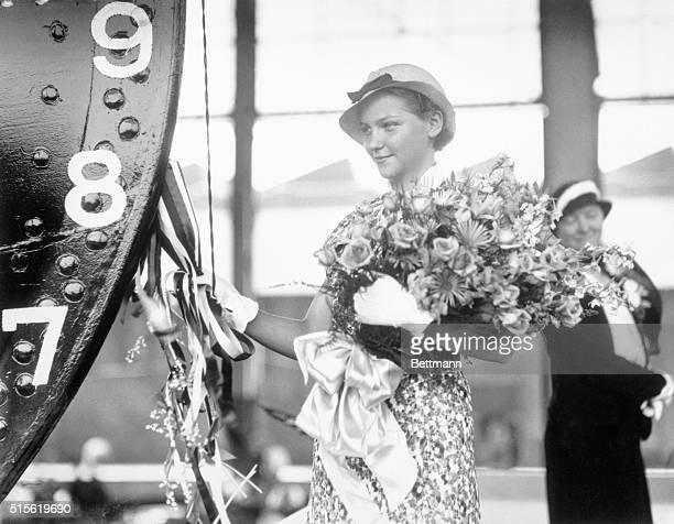 She Sponsors New Lighthouse Tender Wilmington Delaware Miss Kristi Aresvik Putnam of Washington DC about to christen the lighthouse tender Lilac...