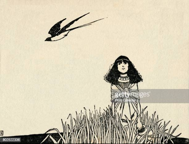 She Understood the Speech of Birds' c1930 An illustration from 'The Marsh King's Daughter' by Hans Christian Andersen From Hans Andersen's Fairy...