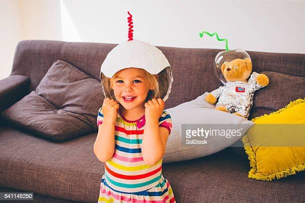 She want to be an astronaut when she grows up!